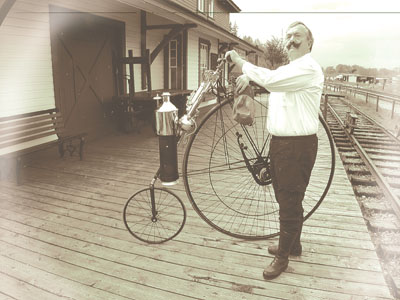 Copeland Velocipede Steam Motorcycle
